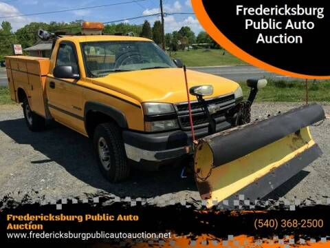2006 Chevrolet Silverado 2500HD Work Truck for sale at FPAA in Fredericksburg VA