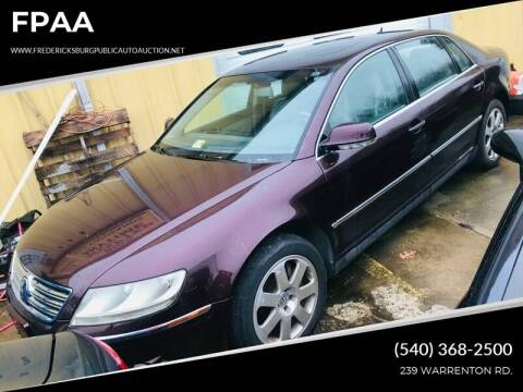2004 Volkswagen Phaeton V8 for sale at FPAA in Fredericksburg VA