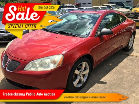 2006 Pontiac G6 for sale at FPAA in Fredericksburg VA