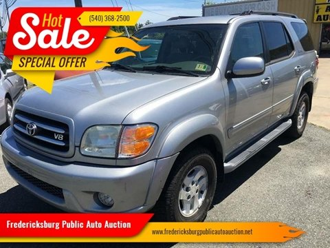2002 Toyota Sequoia for sale at FPAA in Fredericksburg VA