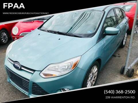 2012 Ford Focus for sale at FPAA in Fredericksburg VA