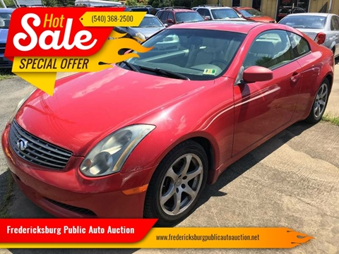 2005 Infiniti G35 for sale at FPAA in Fredericksburg VA