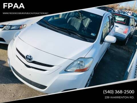 2008 Toyota Yaris for sale at FPAA in Fredericksburg VA
