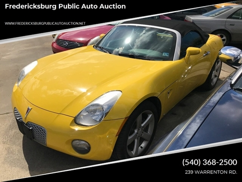 2007 Pontiac Solstice for sale at FPAA in Fredericksburg VA