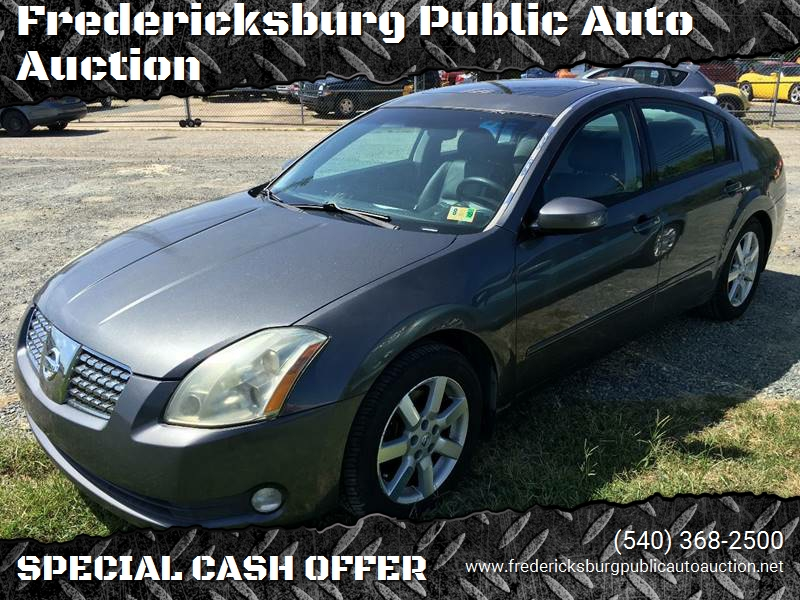 2005 Nissan Maxima For Sale At Fredericksburg Public Auto Auction In  Fredericksburg VA