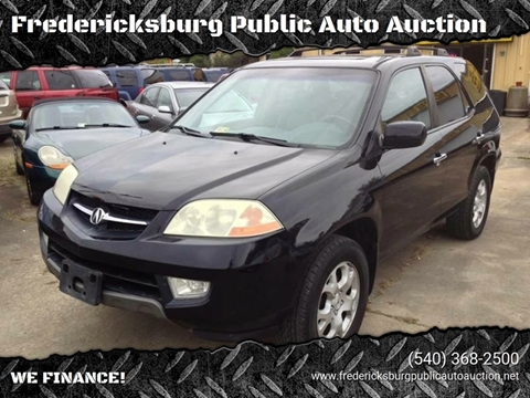 2002 Acura MDX for sale at FPAA in Fredericksburg VA