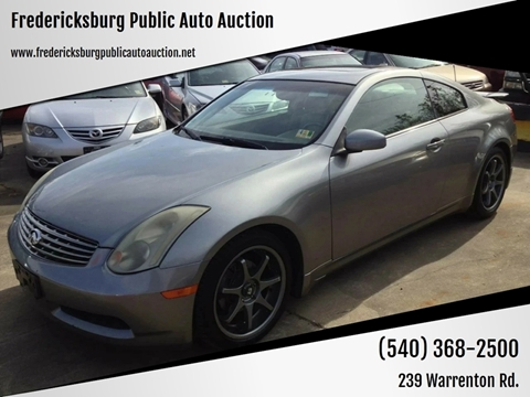 2004 Infiniti G35 for sale at FPAA in Fredericksburg VA