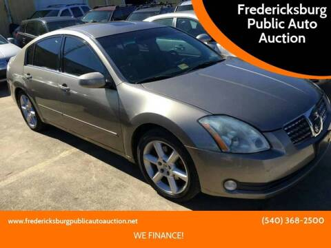 2004 Nissan Maxima for sale at FPAA in Fredericksburg VA