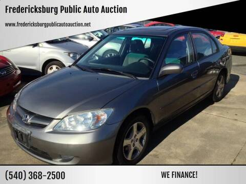 2005 Honda Civic EX Special Edition for sale at FPAA in Fredericksburg VA