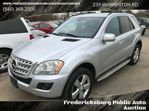 2009 Mercedes-Benz M-Class for sale at FPAA in Fredericksburg VA