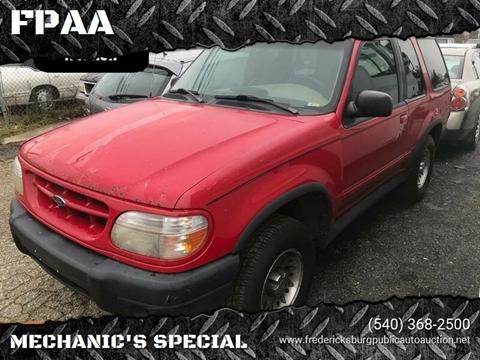 1999 Ford Explorer for sale at FPAA in Fredericksburg VA