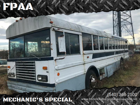 1987 International Blue Bird for sale at FPAA in Fredericksburg VA