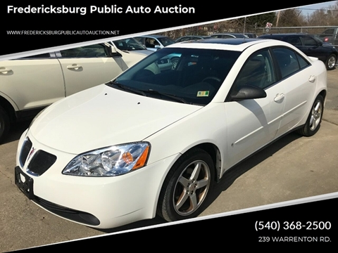2007 Pontiac G6 for sale at FPAA in Fredericksburg VA