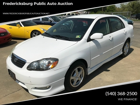 2007 Toyota Corolla for sale at FPAA in Fredericksburg VA