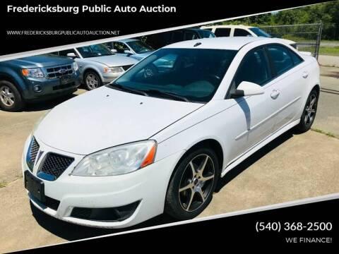 2010 Pontiac G6 for sale at FPAA in Fredericksburg VA