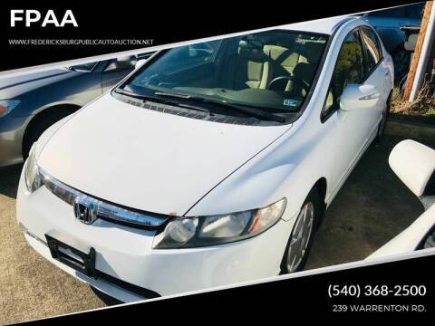 2008 Honda Civic Hybrid w/Navi for sale at FPAA in Fredericksburg VA