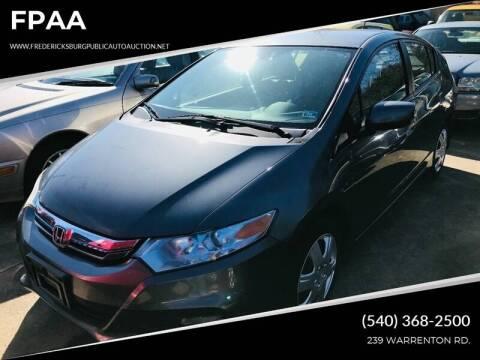 2012 Honda Insight for sale at FPAA in Fredericksburg VA