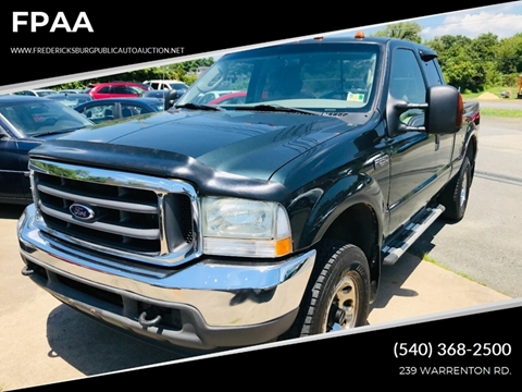 2004 Ford F-250 Super Duty for sale at FPAA in Fredericksburg VA