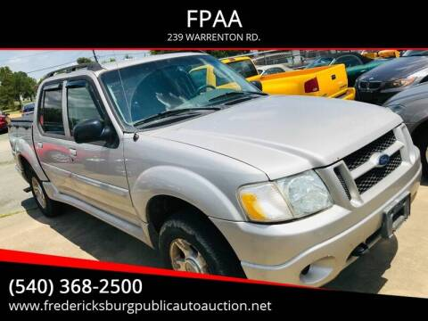 2004 Ford Explorer Sport Trac XLT for sale at FPAA in Fredericksburg VA