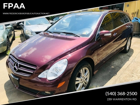 2006 Mercedes-Benz R-Class for sale at FPAA in Fredericksburg VA