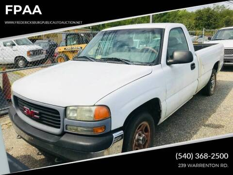 2002 GMC Sierra 1500 for sale at FPAA in Fredericksburg VA