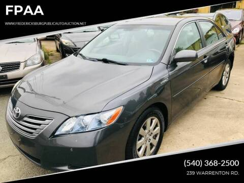 2007 Toyota Camry Hybrid for sale at FPAA in Fredericksburg VA