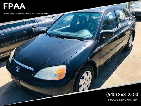2003 Honda Civic for sale at FPAA in Fredericksburg VA