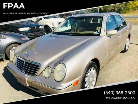 2000 Mercedes-Benz E-Class E 320 for sale at FPAA in Fredericksburg VA