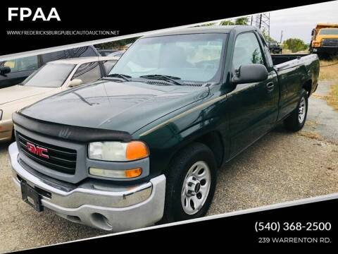 2005 GMC Sierra 1500 Work Truck for sale at FPAA in Fredericksburg VA