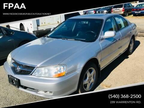 2003 Acura TL for sale at FPAA in Fredericksburg VA