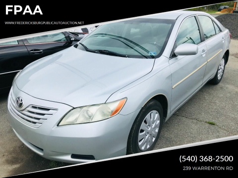 2007 Toyota Camry LE for sale at FPAA in Fredericksburg VA