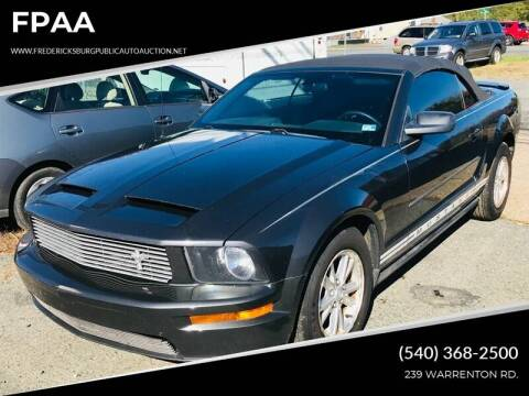 2008 Ford Mustang for sale at FPAA in Fredericksburg VA