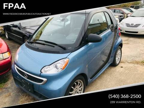 2014 Smart fortwo passion for sale at FPAA in Fredericksburg VA