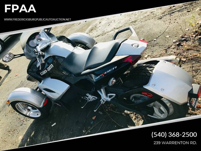 2008 Can-Am Spyder for sale at FPAA in Fredericksburg VA