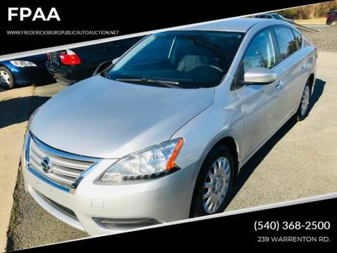 2013 Nissan Sentra S for sale at FPAA in Fredericksburg VA