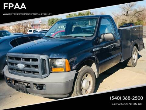 2006 Ford F-250 Super Duty for sale at FPAA in Fredericksburg VA