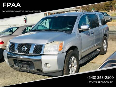 2004 Nissan Armada for sale at FPAA in Fredericksburg VA