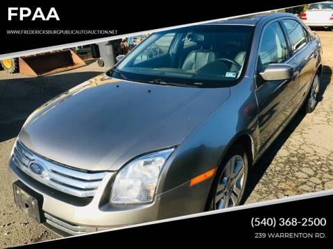 2009 Ford Fusion for sale at FPAA in Fredericksburg VA