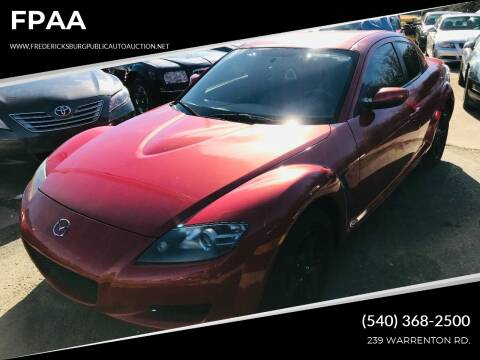2005 Mazda RX-8 for sale at FPAA in Fredericksburg VA