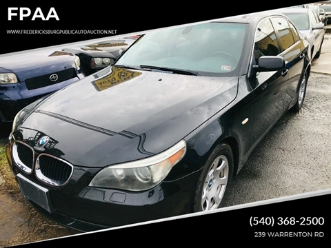 2004 BMW 5 Series for sale at FPAA in Fredericksburg VA
