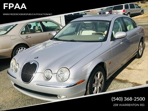 2003 Jaguar S-Type 3.0 for sale at FPAA in Fredericksburg VA