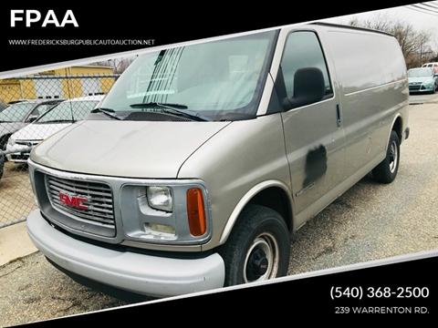 2001 GMC Savana Cargo for sale at FPAA in Fredericksburg VA