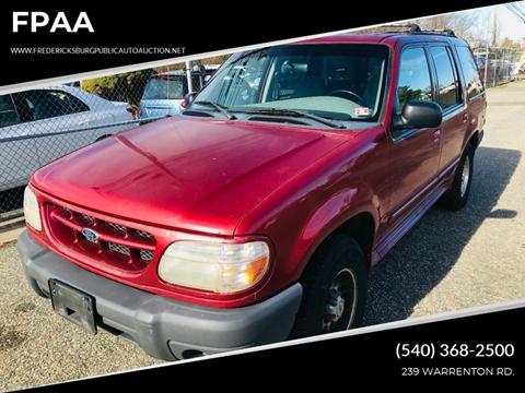 2000 Ford Explorer for sale at FPAA in Fredericksburg VA