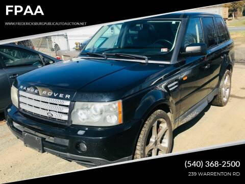 2007 Land Rover Range Rover Sport for sale at FPAA in Fredericksburg VA