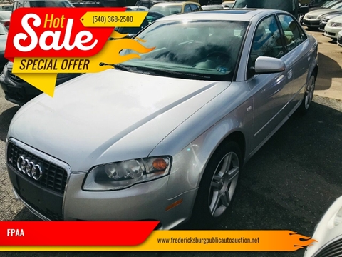 2008 Audi A4 for sale at FPAA in Fredericksburg VA