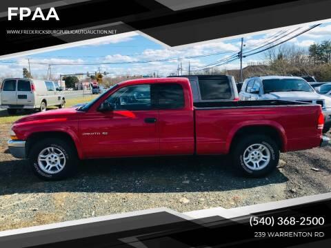 2002 Dodge Dakota for sale at FPAA in Fredericksburg VA