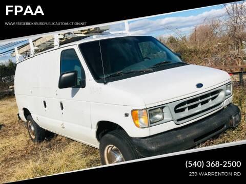 2000 Ford E-250 for sale at FPAA in Fredericksburg VA
