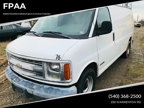 2002 Chevrolet Express Cargo for sale at FPAA in Fredericksburg VA