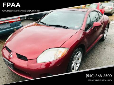 2006 Mitsubishi Eclipse for sale at FPAA in Fredericksburg VA