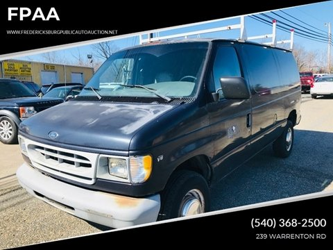 1999 Ford E-250 for sale at FPAA in Fredericksburg VA
